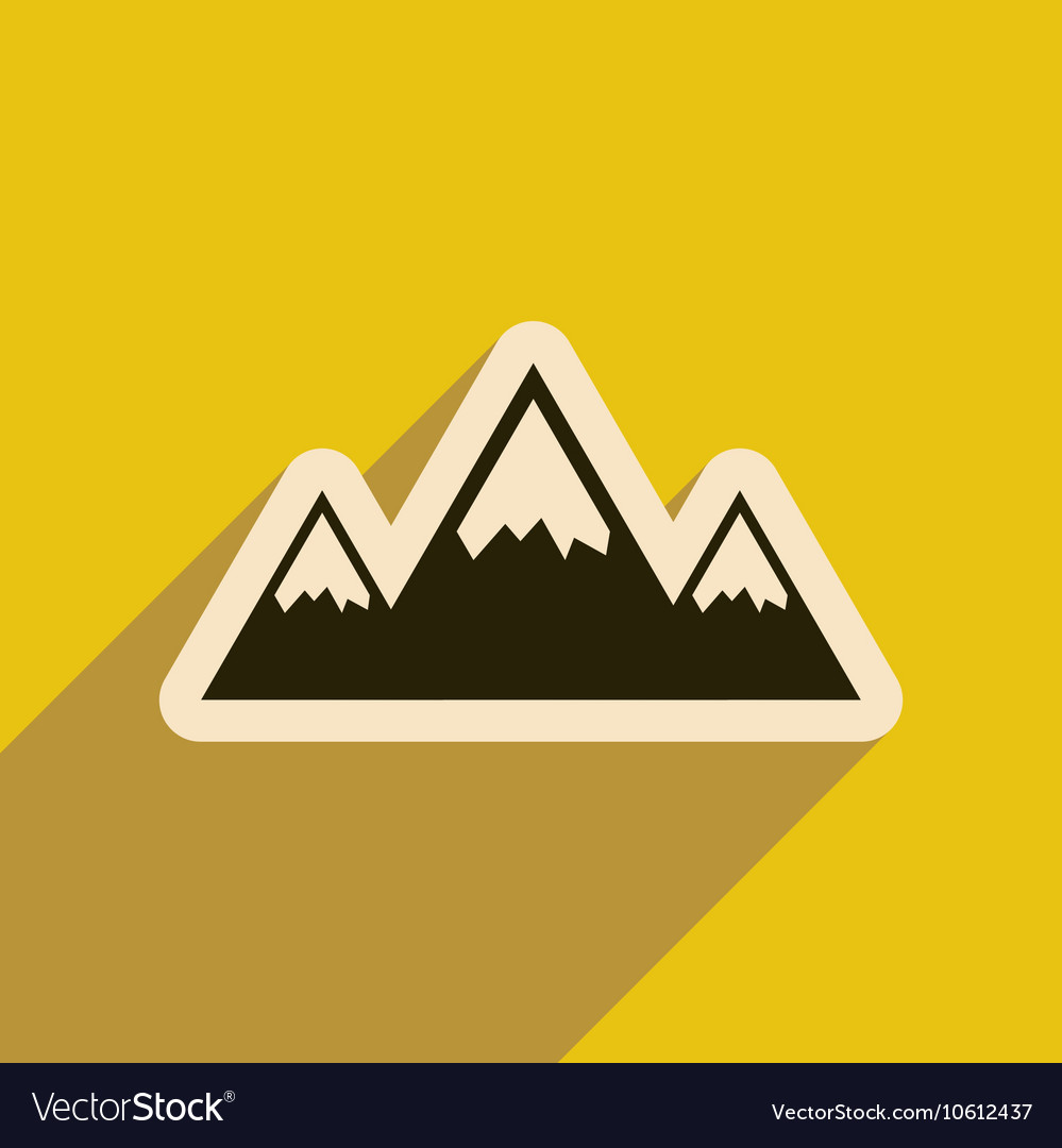 Mountains web icon Flat design