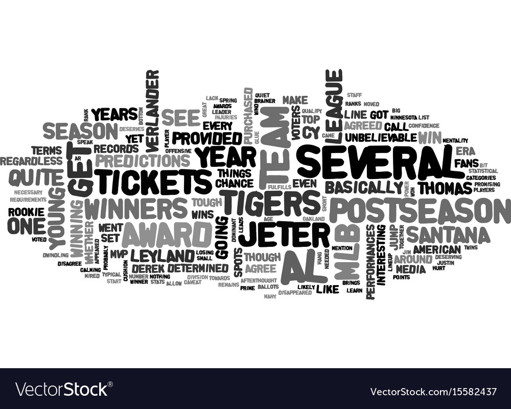 Which mlb tickets provided a chance to see the al vector image