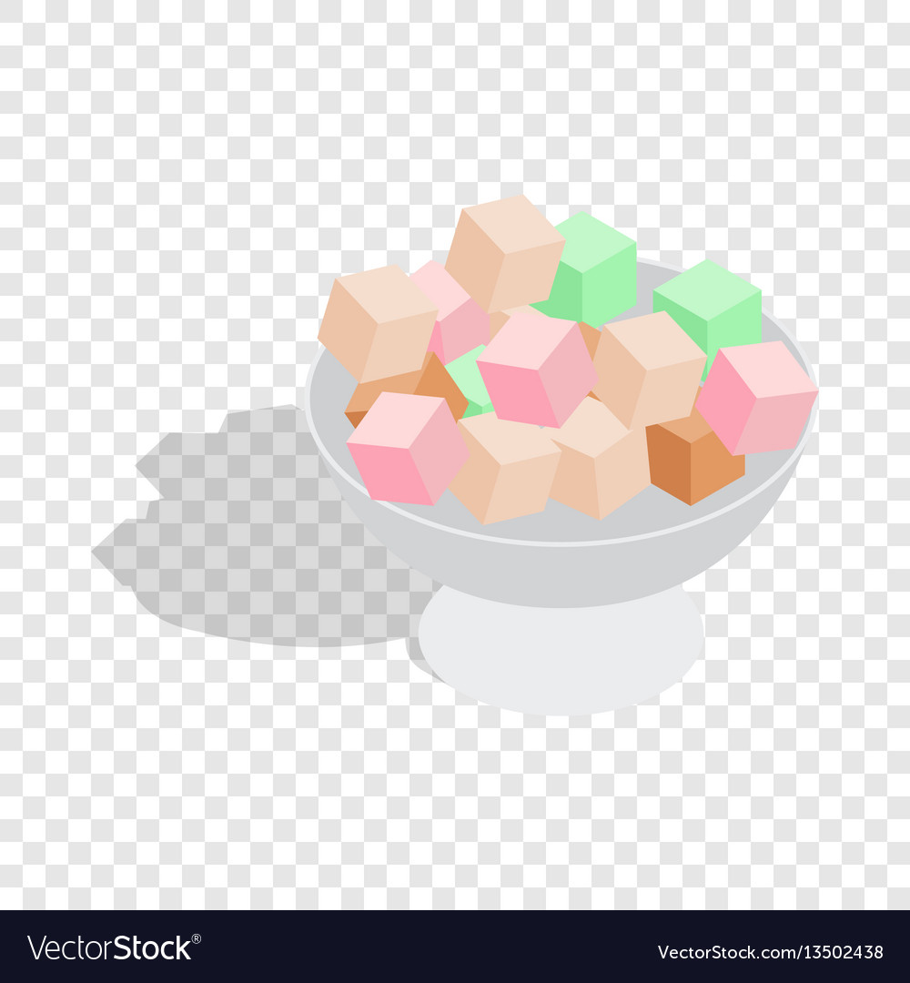 Turkish delight isometric icon vector image
