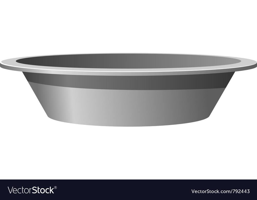 Metal basin vector image