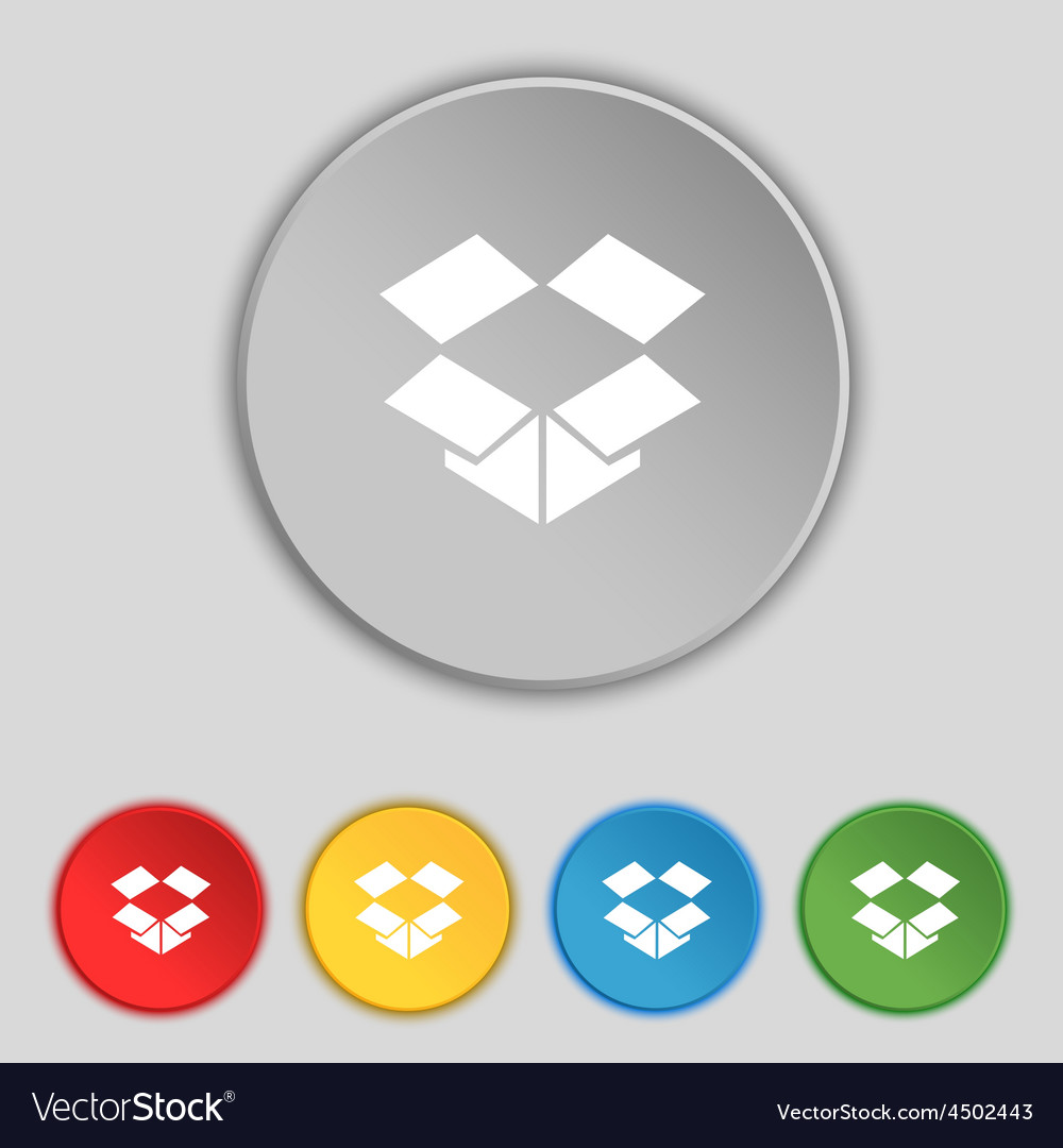 Open box icon sign symbol on five flat buttons vector image open box icon sign symbol on five flat buttons vector image biocorpaavc Choice Image