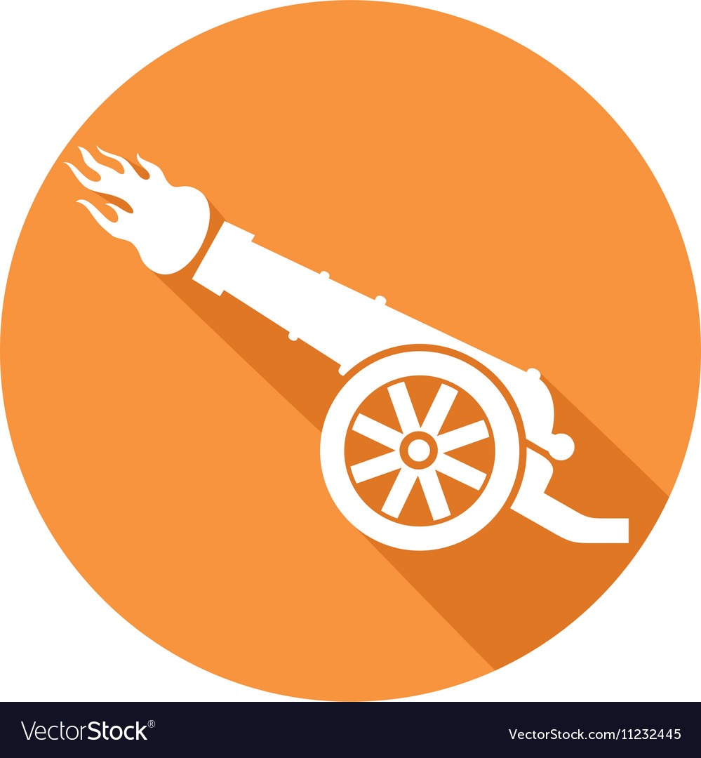 Ancient Cannon Icon vector image