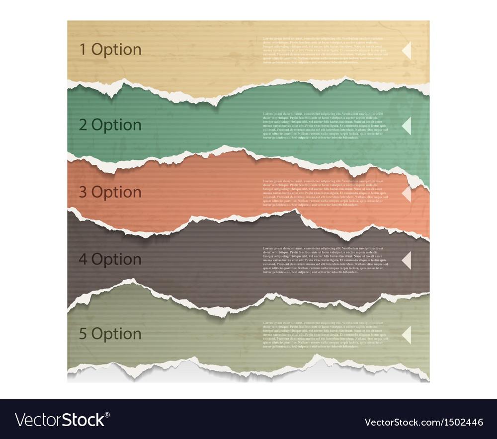 Torn paper vector image