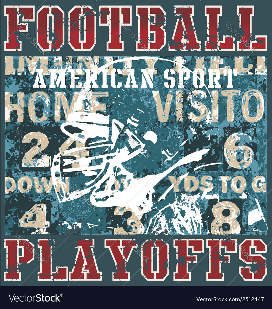 Football playoffs vector image