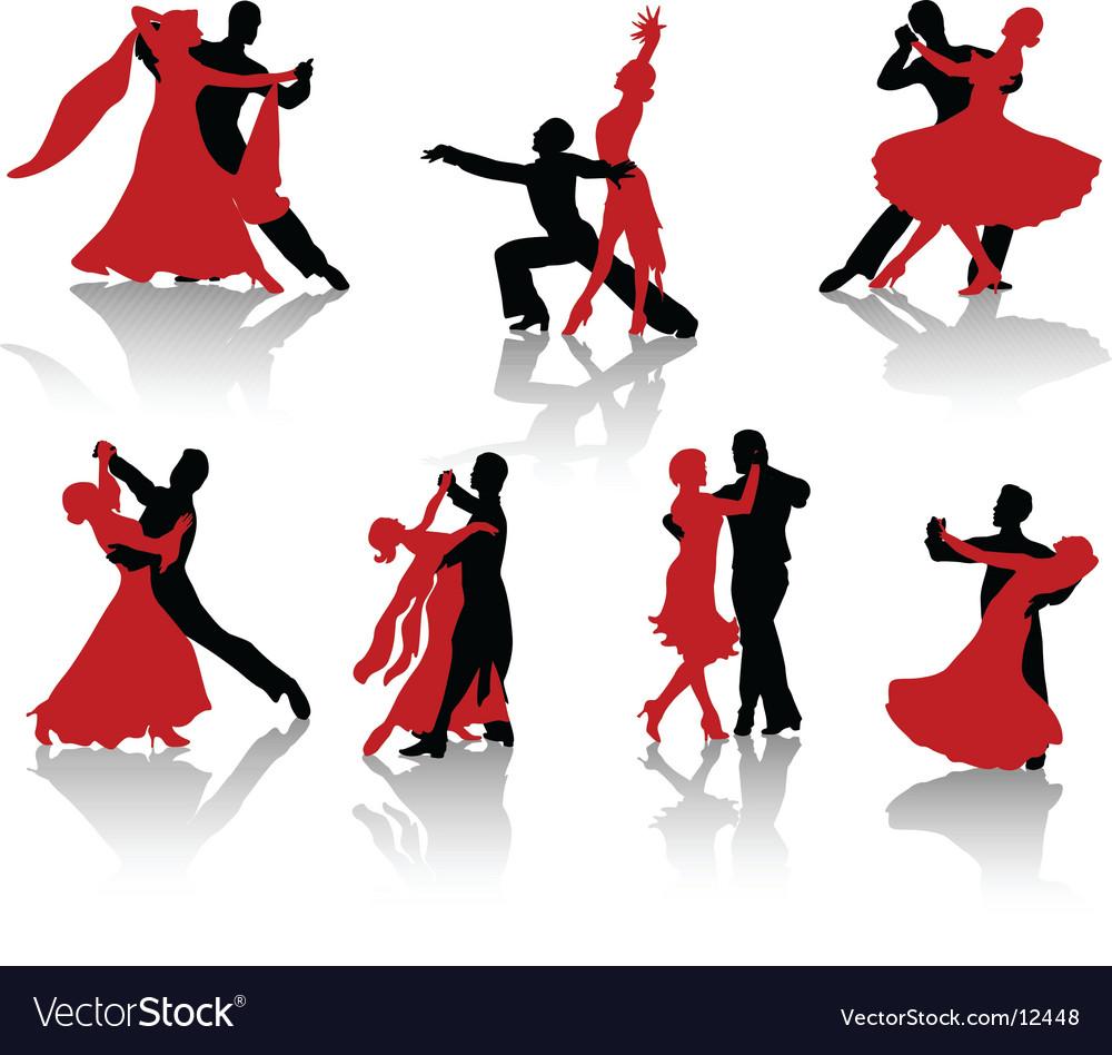 Dancing Vector Image