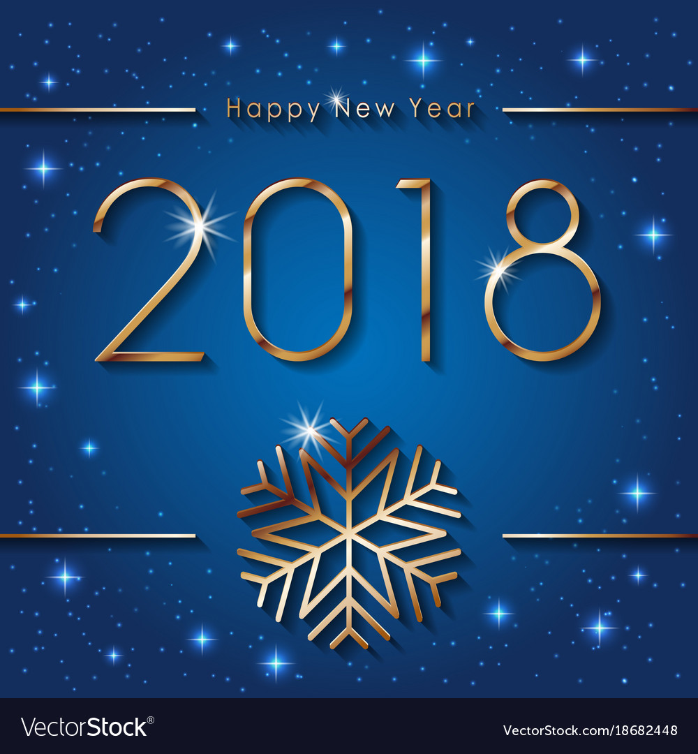 Happy new 2018 year seasons greetings banner with vector image kristyandbryce Choice Image