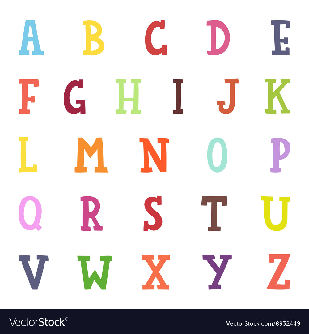 Alphabet cartoon vector image