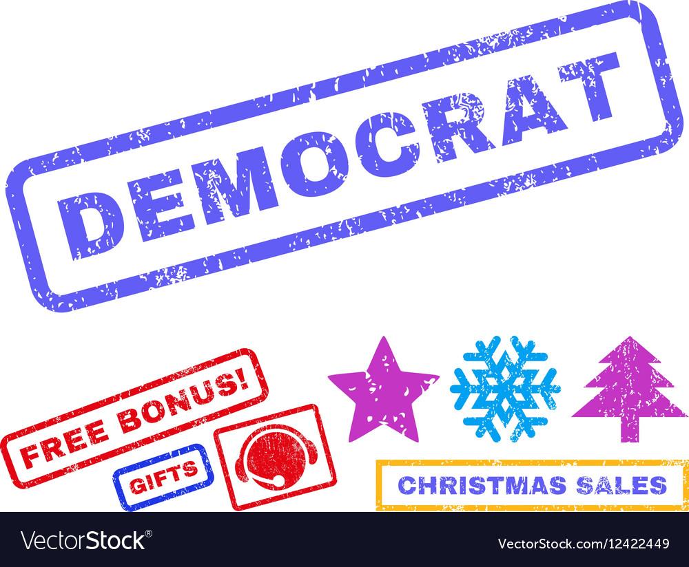 Democrat Rubber Stamp vector image