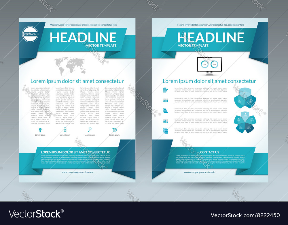 Flyer Brochure Layout Template A Size Royalty Free Vector - Brochure layout template