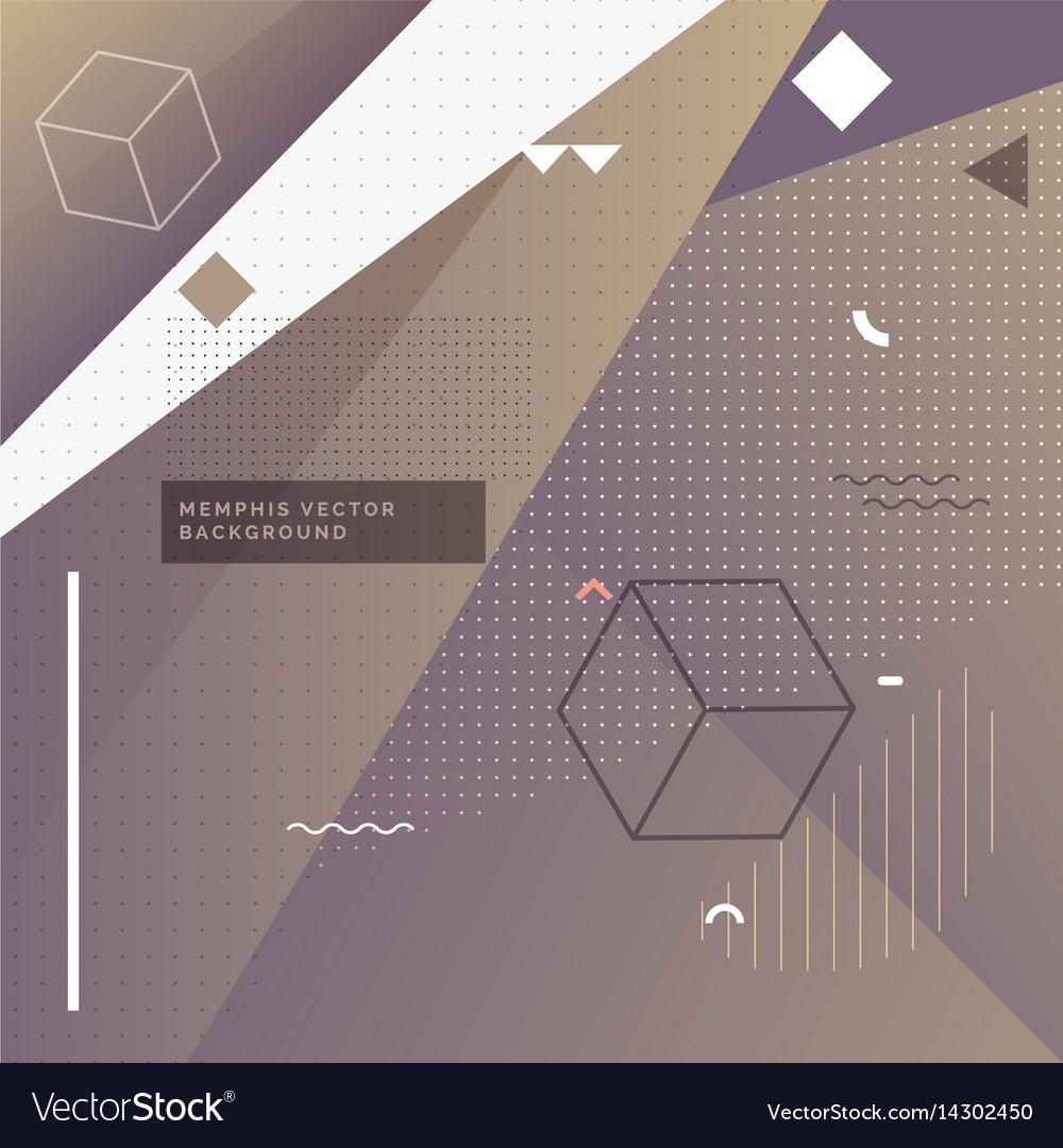 Purple elegant memphis background with geometric vector image