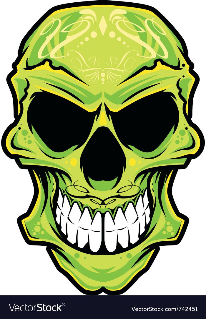 mexico skull color vector image