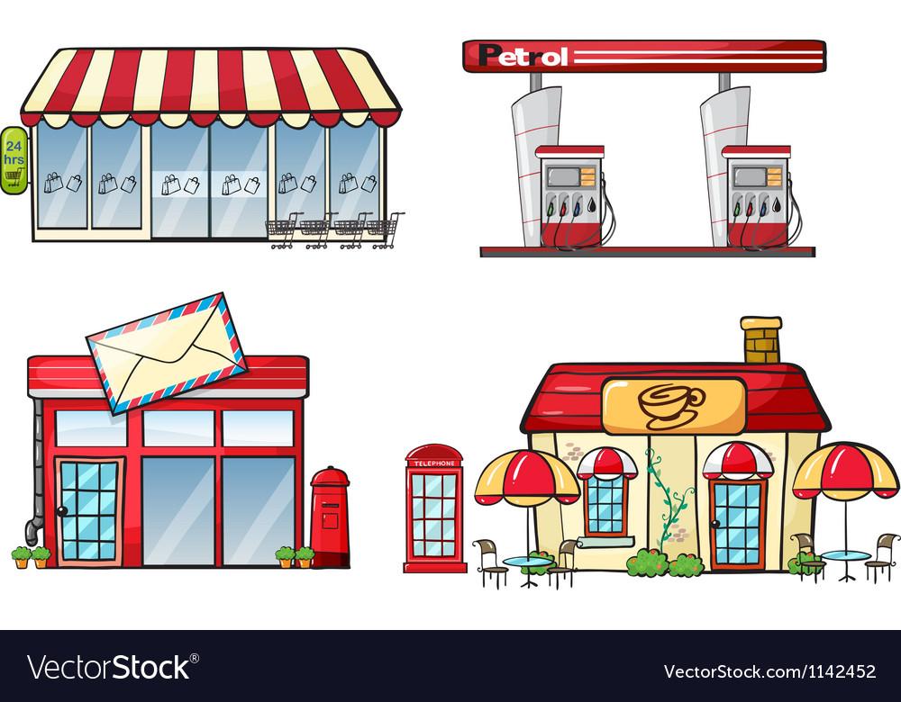 Business establishments vector image