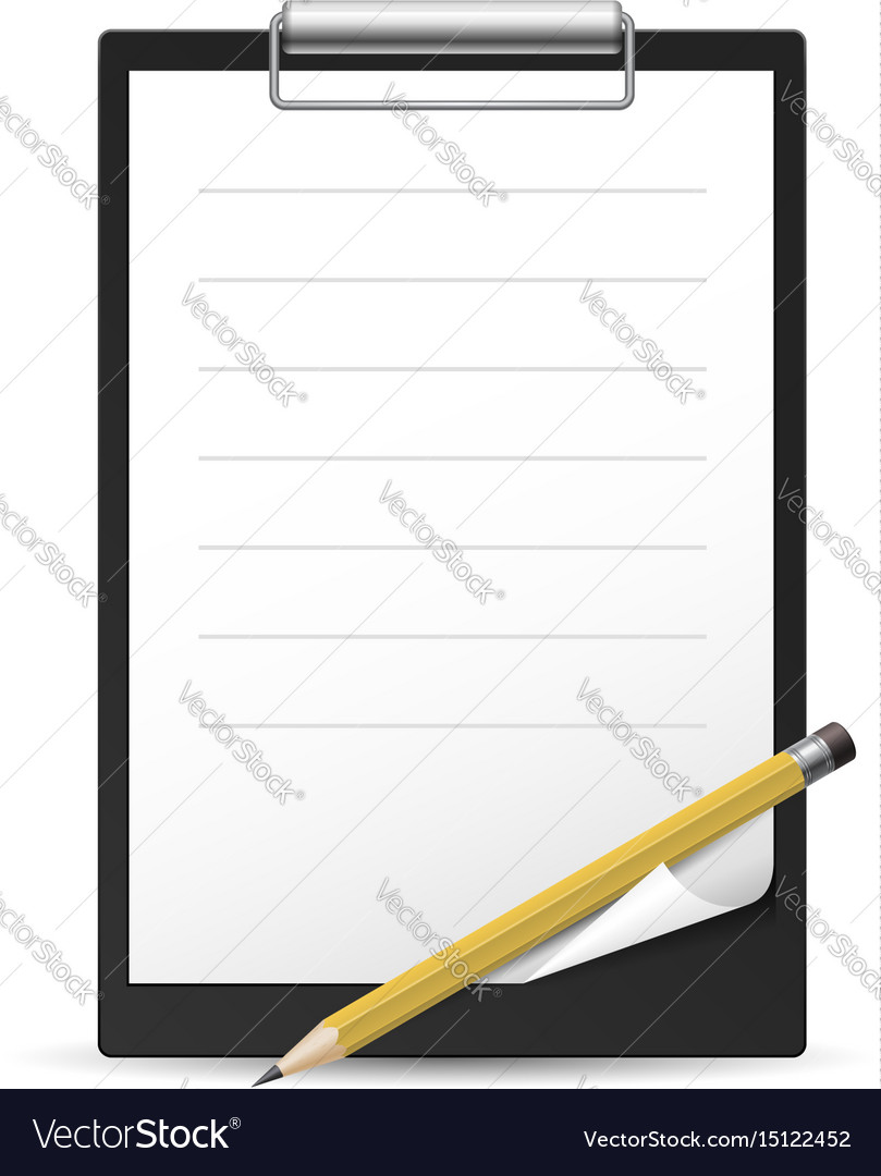 Yellow pencil and notepad icon on white vector image