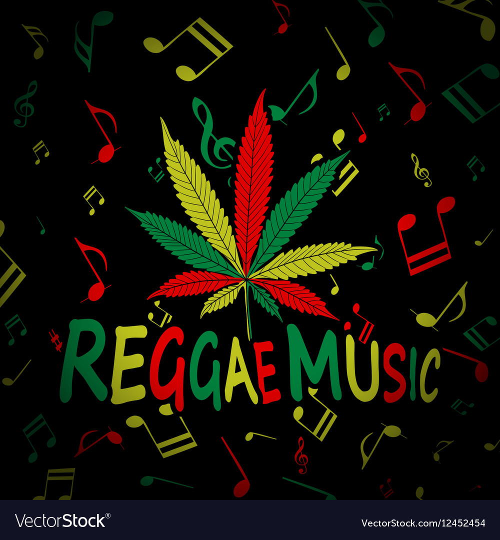 Reggae Music Cannabis vector image