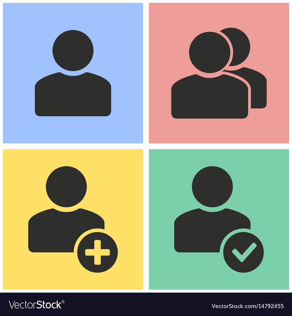 Account icon set vector image