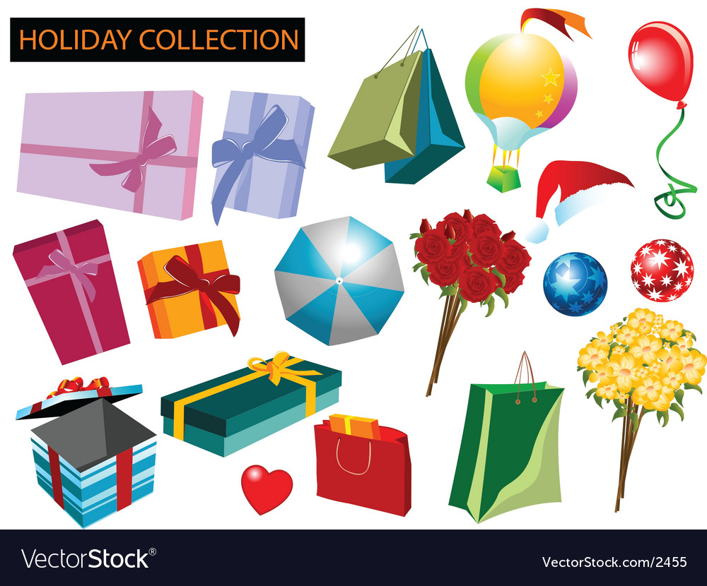 Holiday collection vector image