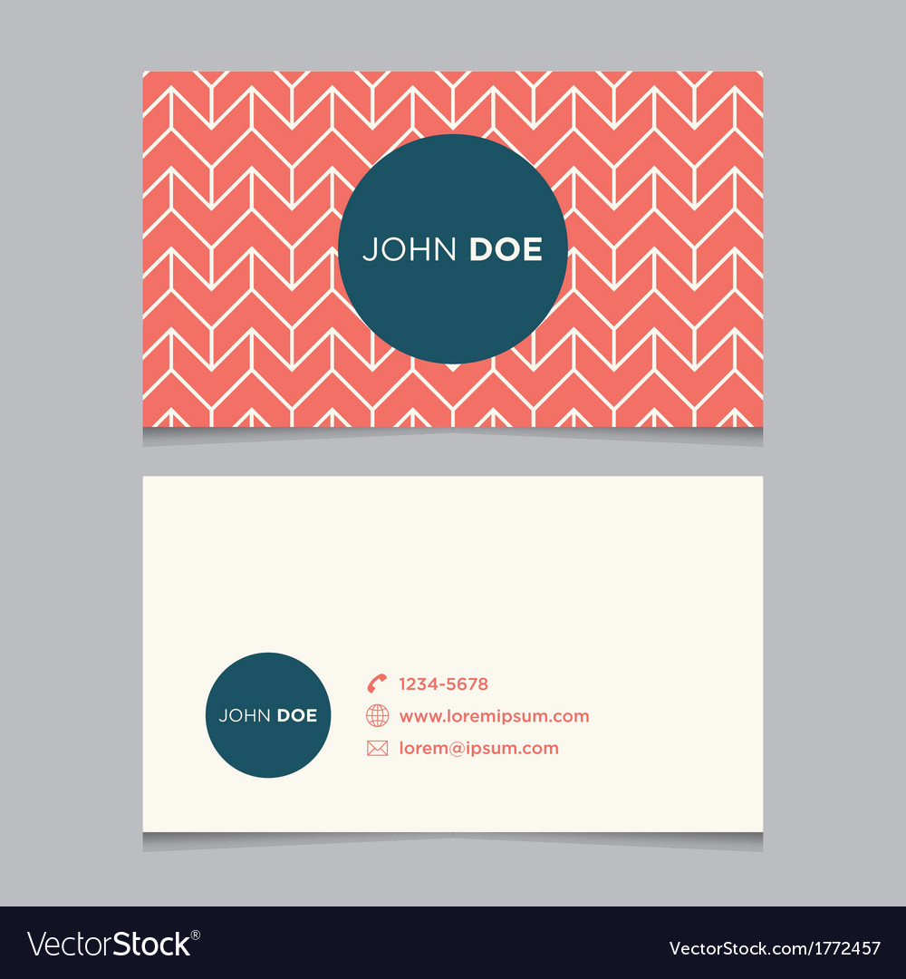 Business card pattern red 04 Royalty Free Vector Image