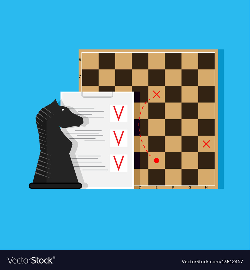 Plan and tactics vector image