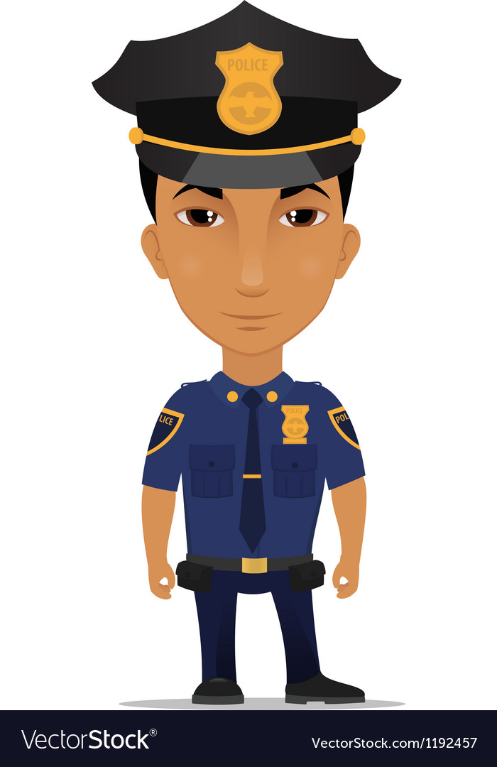 Police officer us vector image