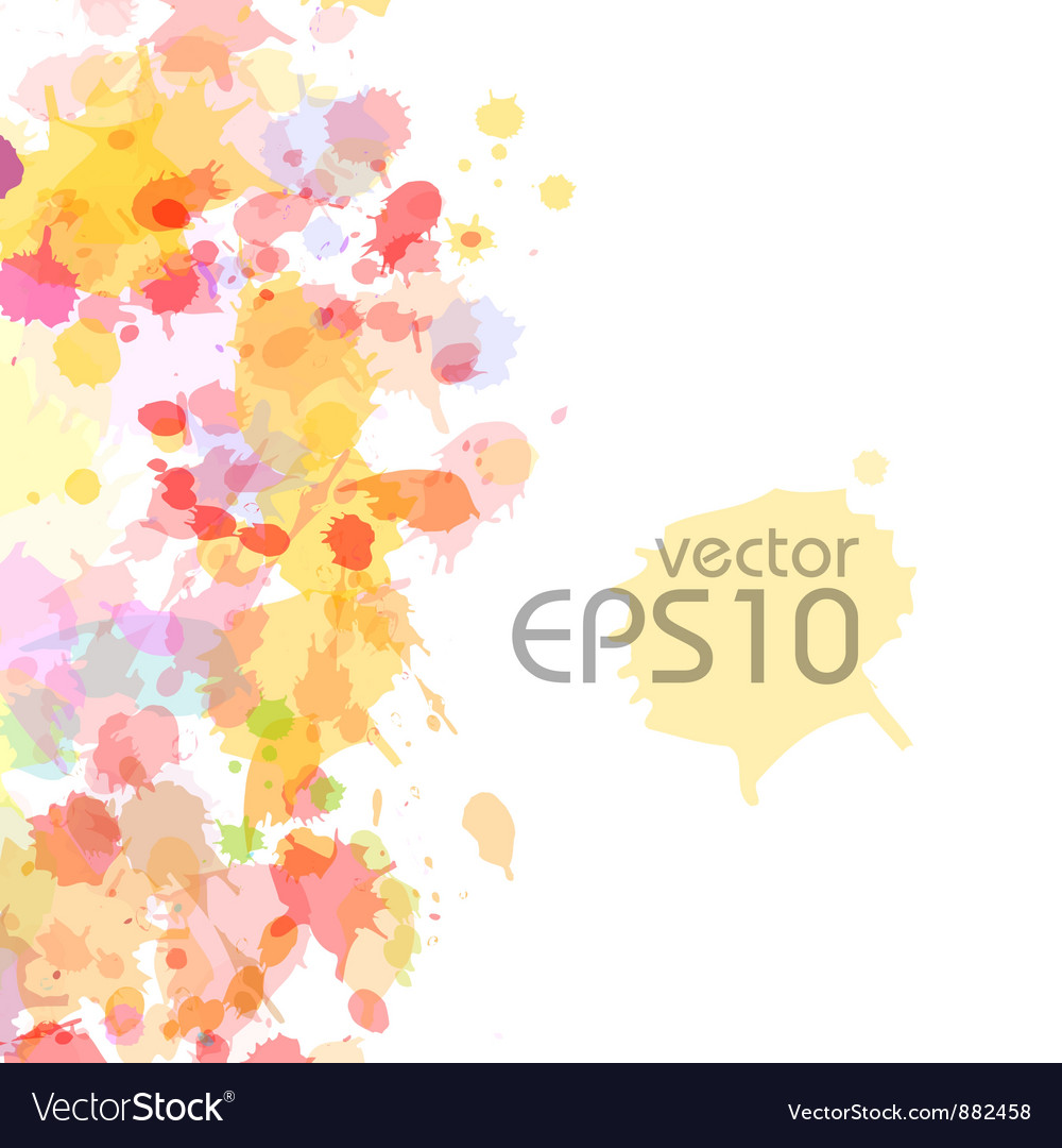 Abstract watercolor blobs background vector image