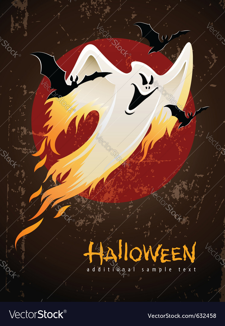 Flying and burning burning vector image
