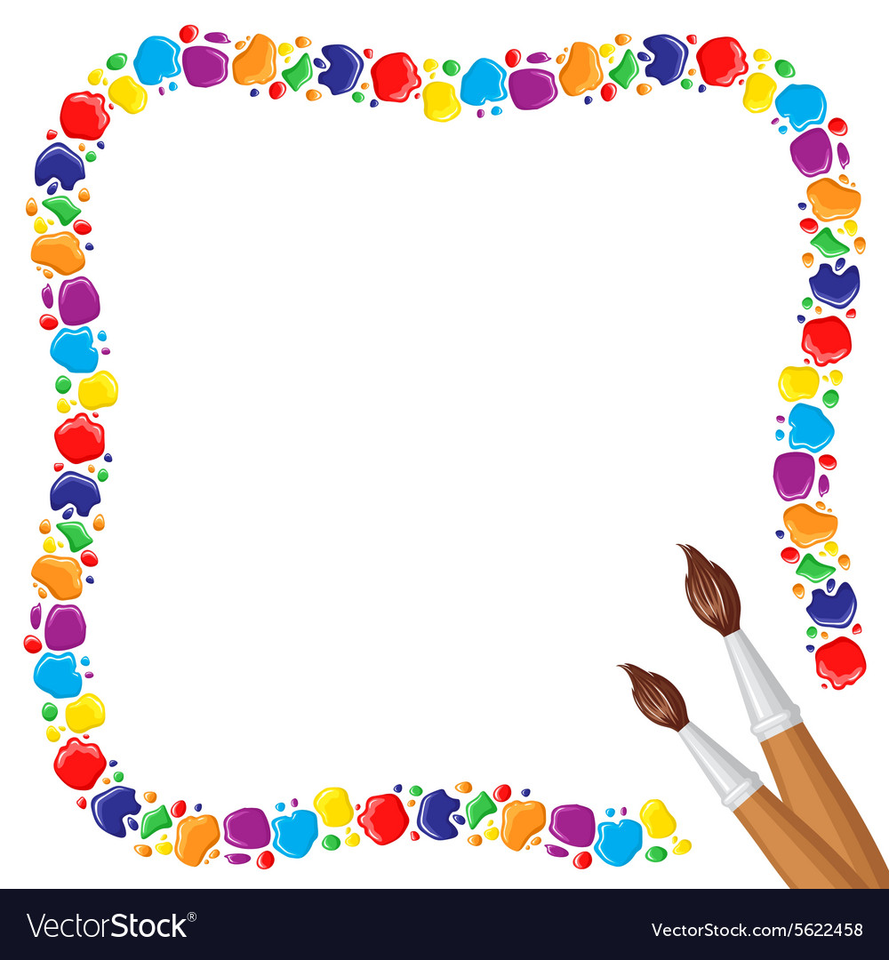 Paints frame vector image