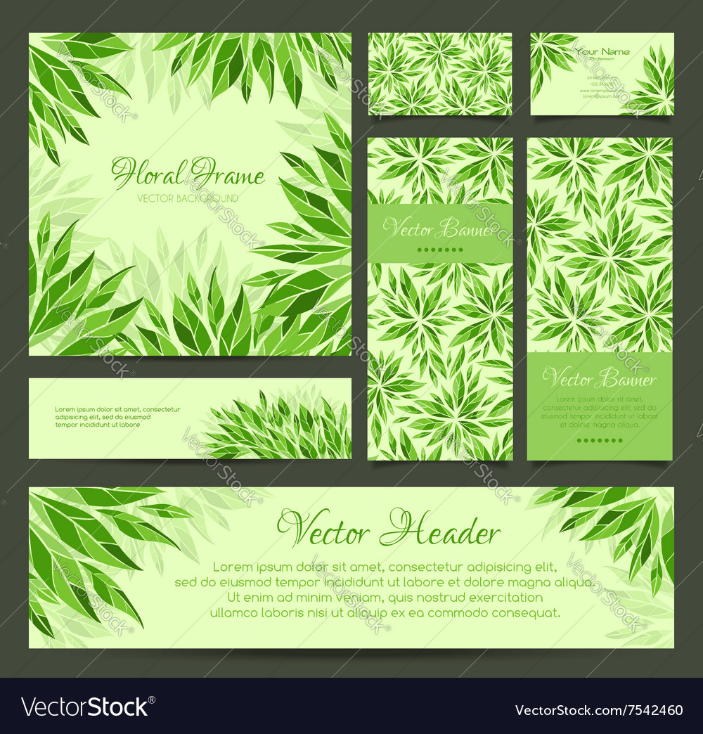 Set of banners business card frame and headers vector image set of banners business card frame and headers vector image magicingreecefo Gallery