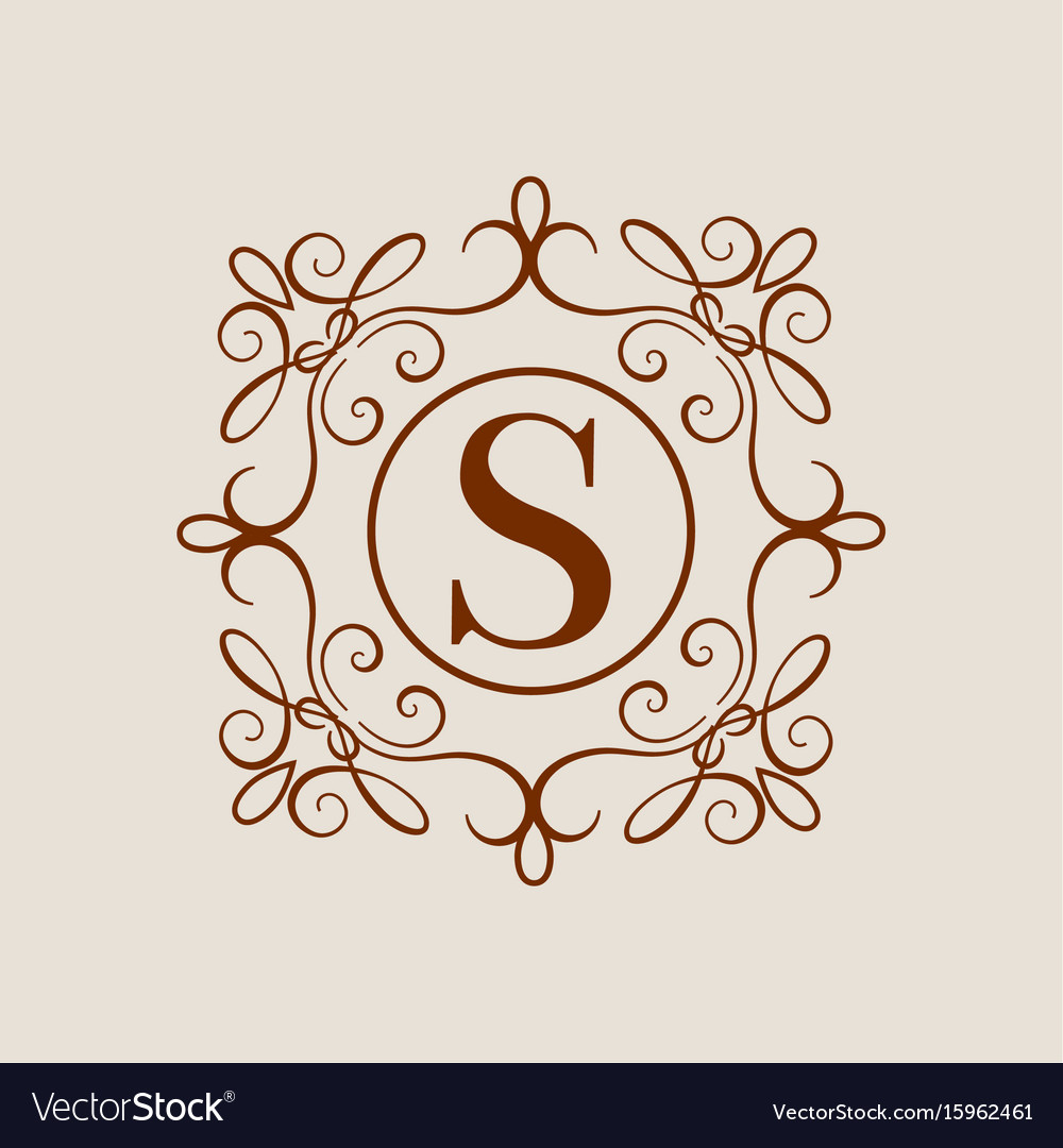 Elegant Monogram Design Template Wedding Vector Image