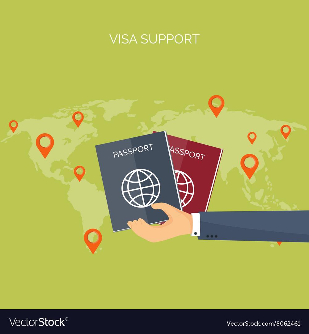 Flat travel background vector image