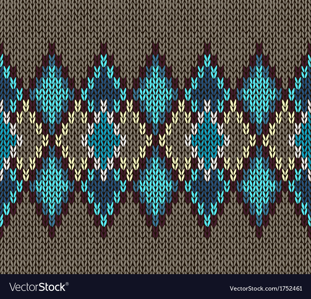 Style Seamless Male Knitted Pattern vector image