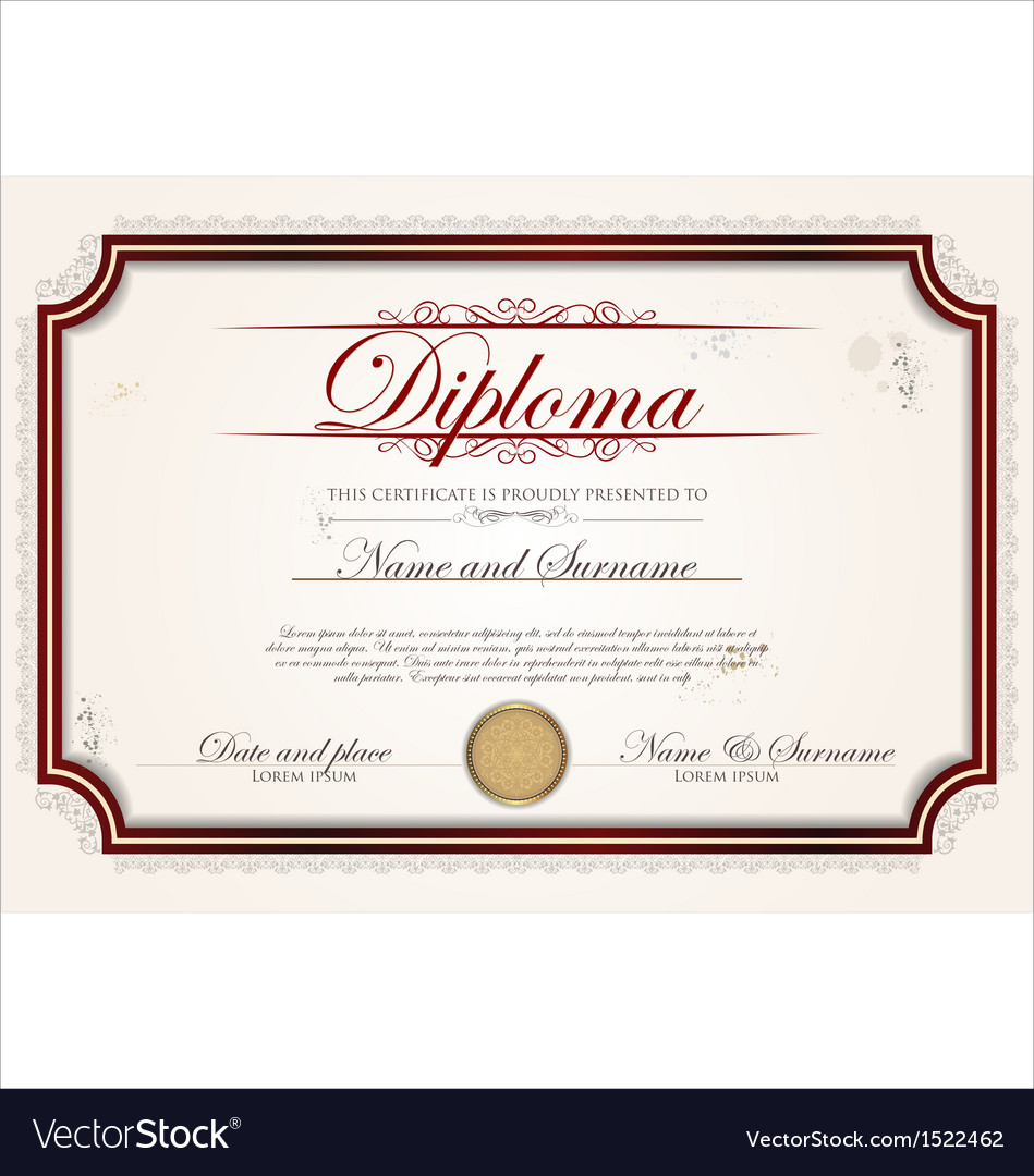 Elegant certificate template royalty free vector image elegant certificate template vector image yadclub Image collections