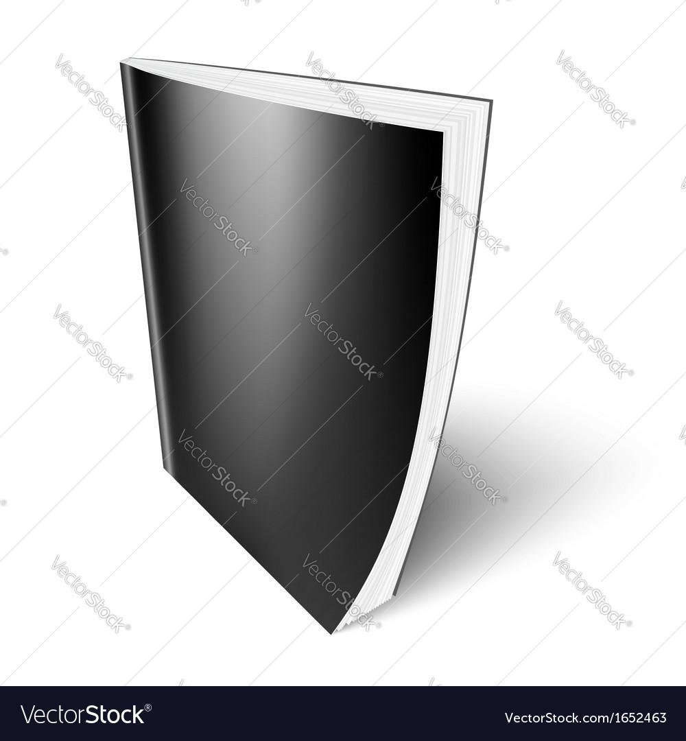 Black vertical magazine template vector image