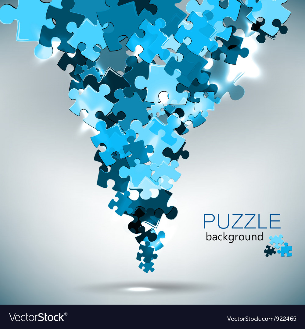 Puzzle pieces vector image