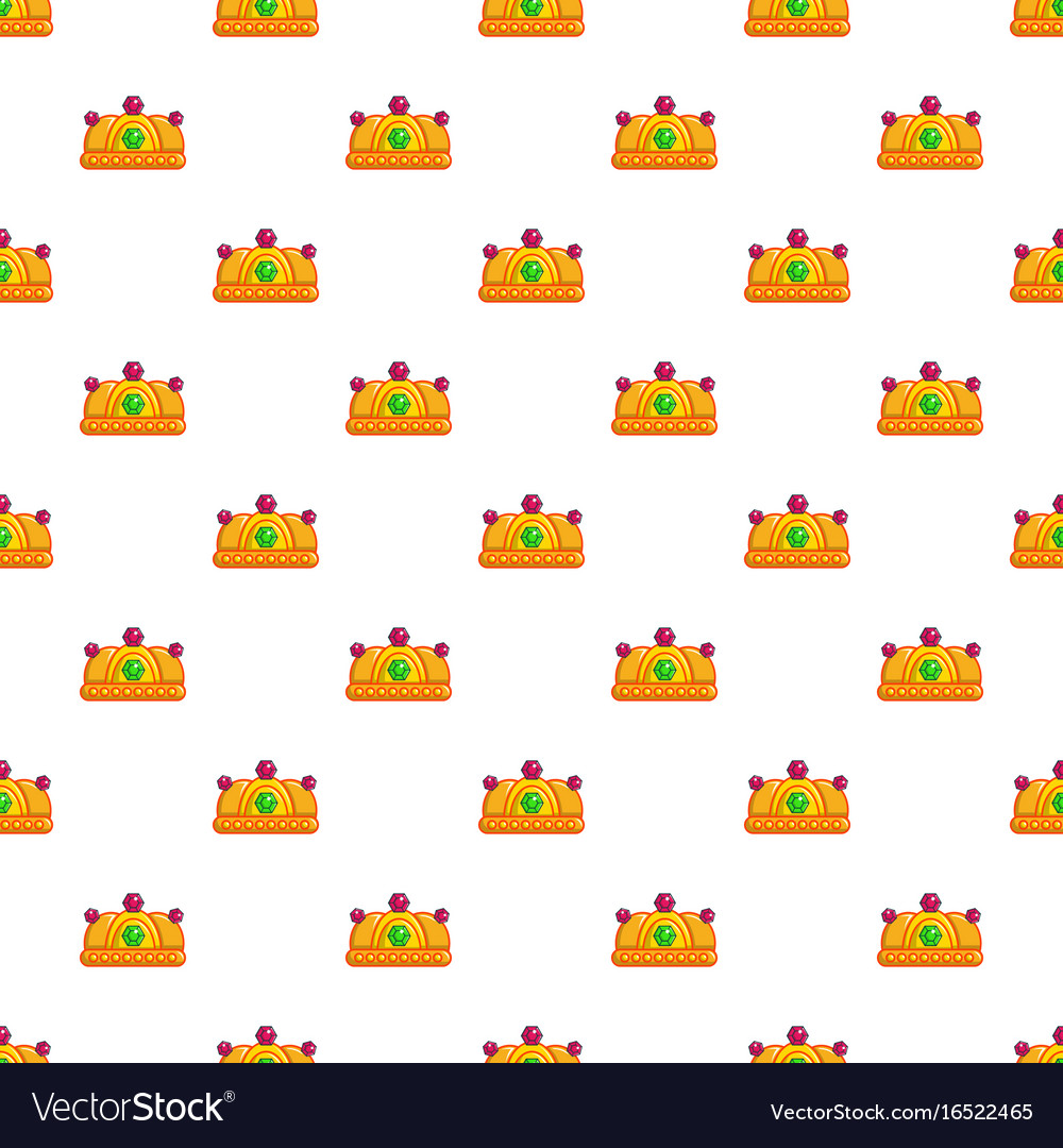 Ruby imperial crown pattern seamless vector image