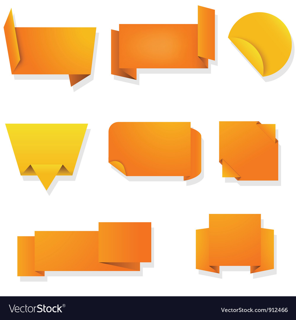 Labels banners vector image