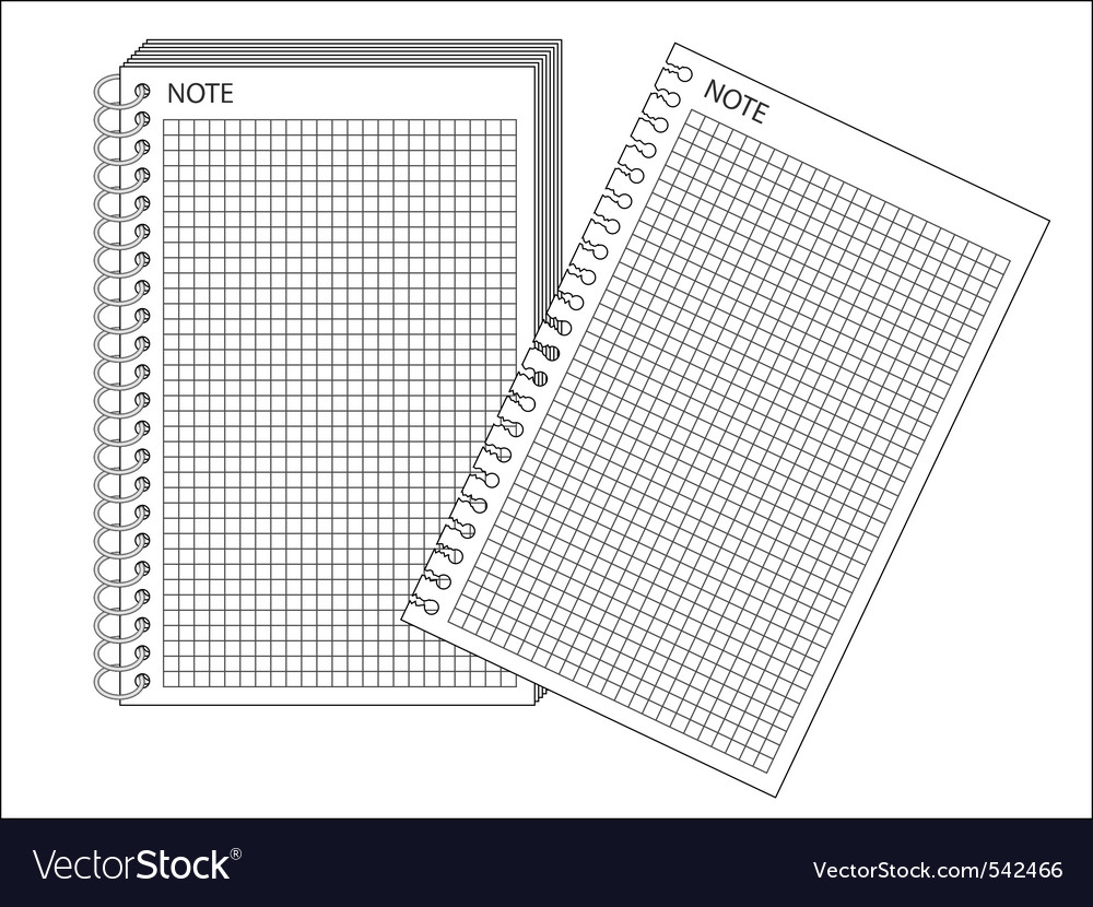 Spiral bound notepad vector image