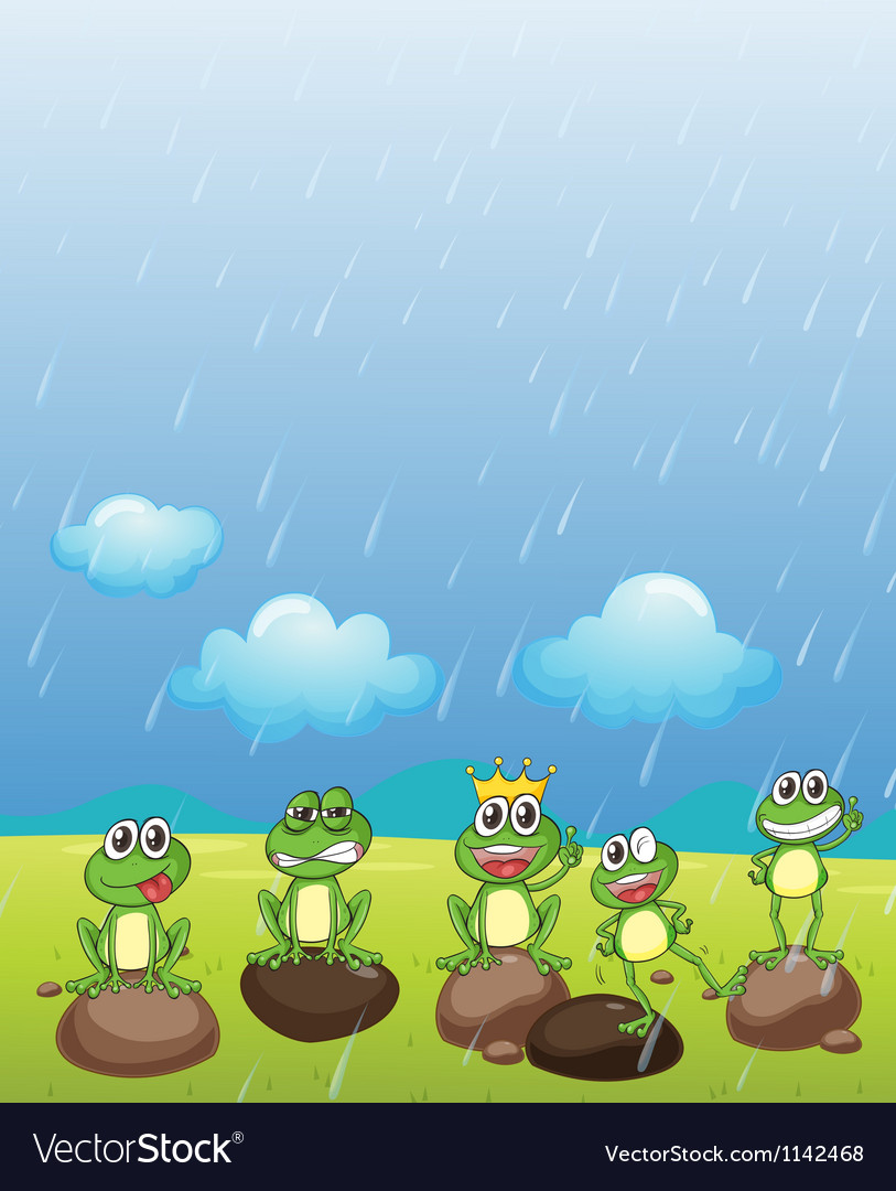 A Frog Prince and friends vector image