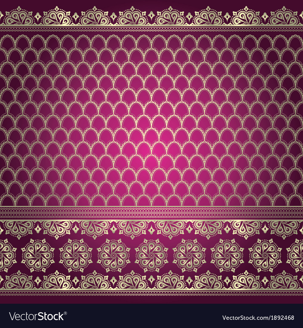 Indian background pattern Royalty Free Vector Image - VectorStock