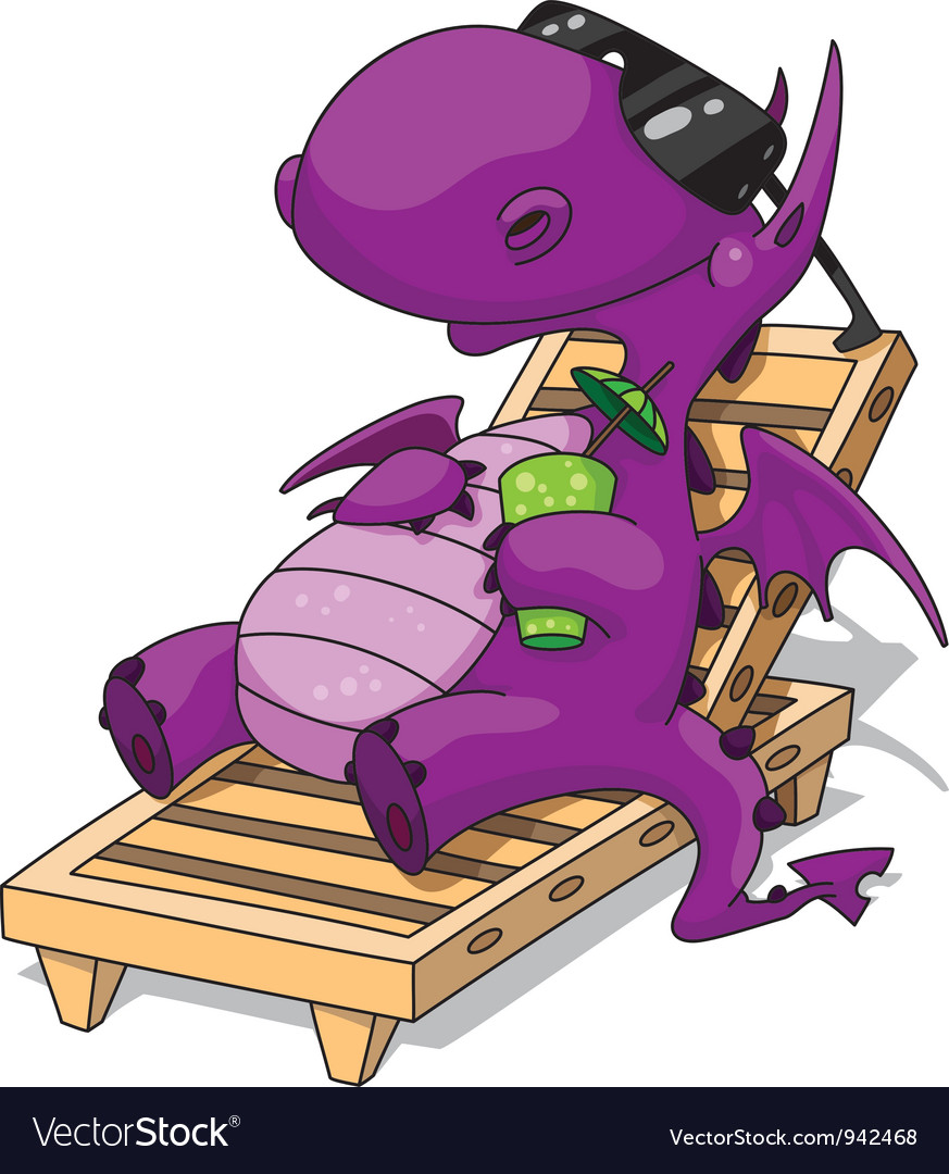 Relaxation dragon vector image