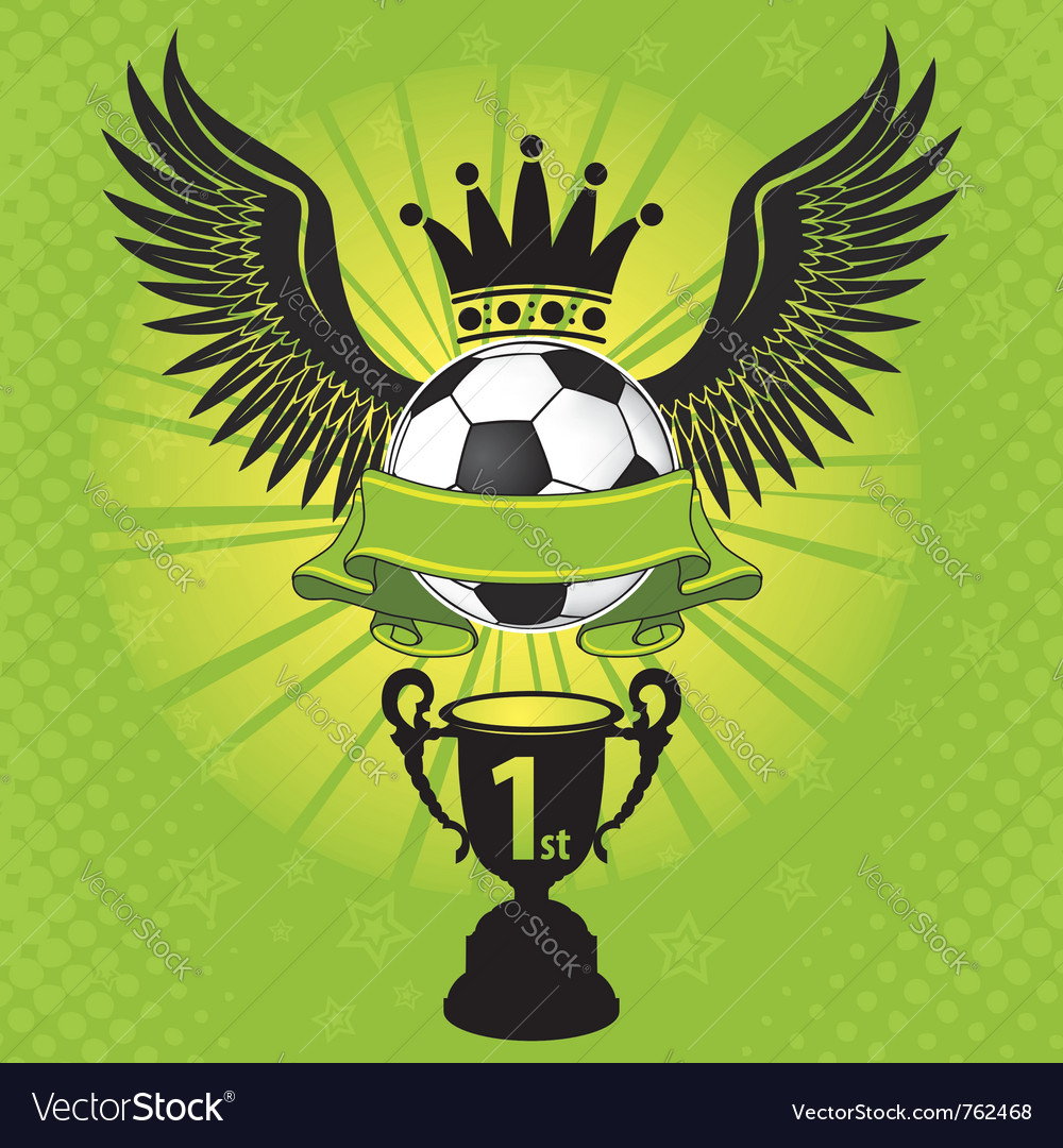 Soccer balls crown vector image