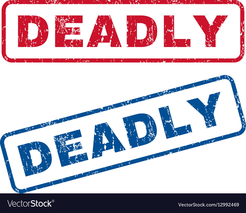 Deadly Rubber Stamps vector image