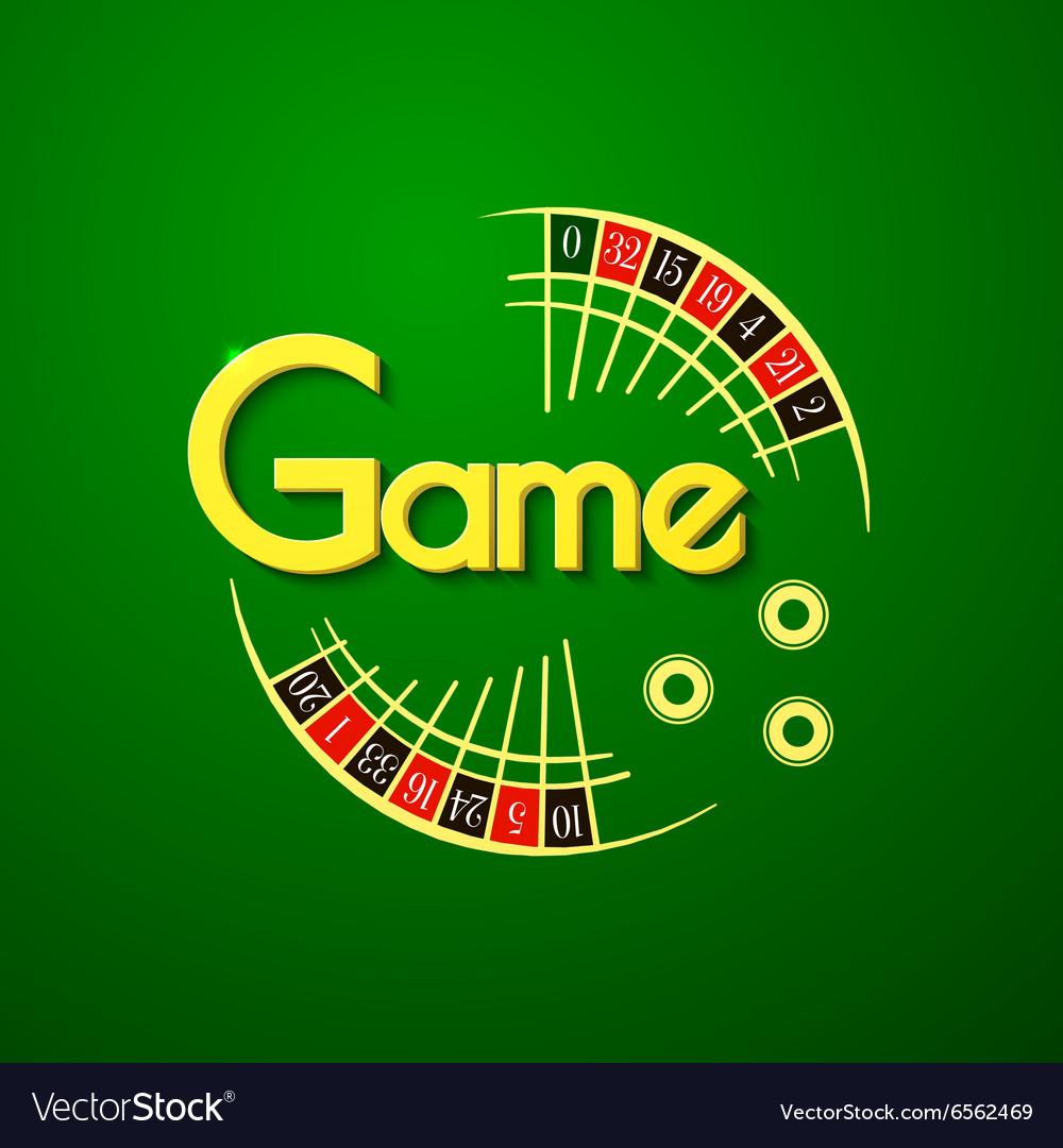 Game logo vector image