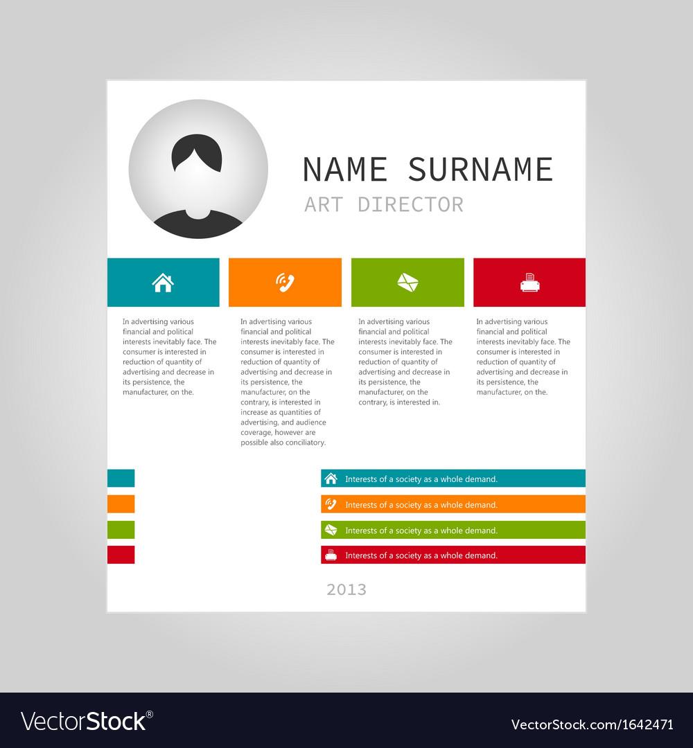 Info graphic person vector image