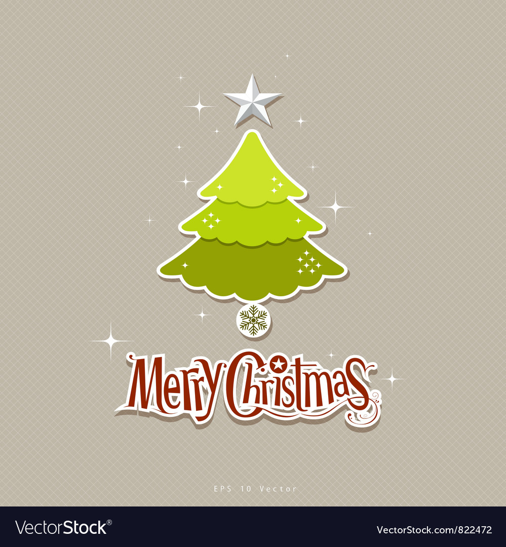 Modern christmas tree design vector image