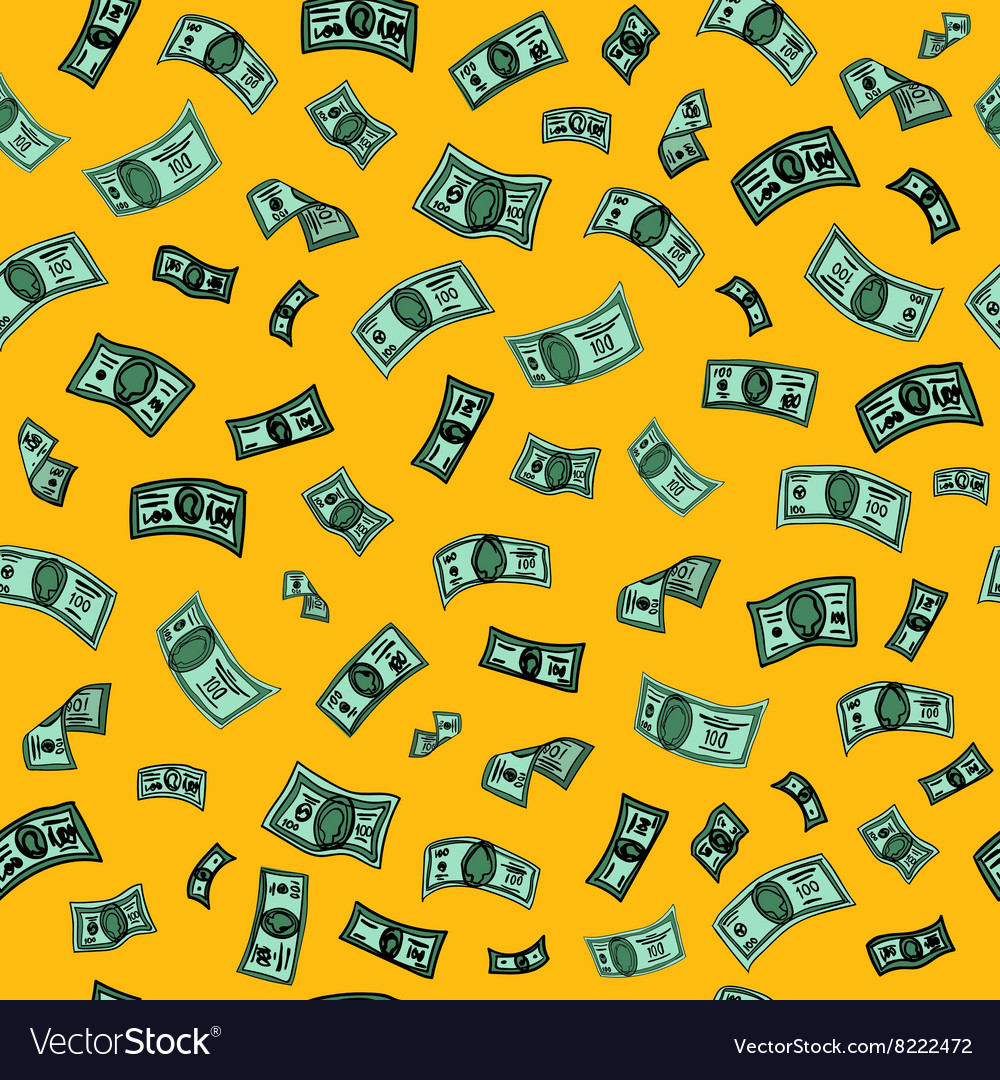 Money Background Dollar Seamless Pattern vector image