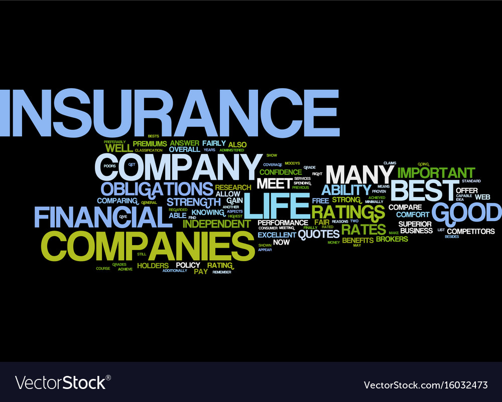 Comparing Life Insurance Quotes Life Insurance Quotes For The Consumer Text Vector Image
