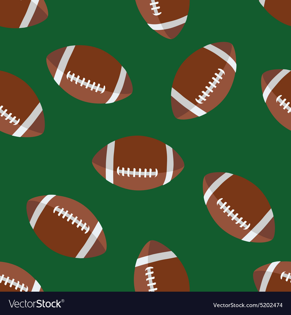 American football pattern vector image