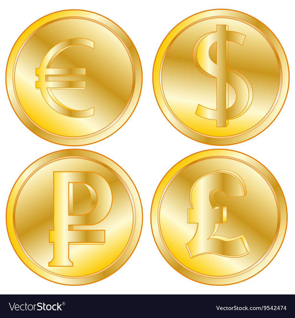 Golden coins of the different countries royalty free vector golden coins of the different countries vector image biocorpaavc
