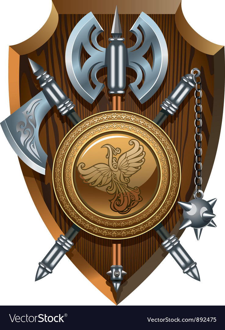 Crest of arms vector image