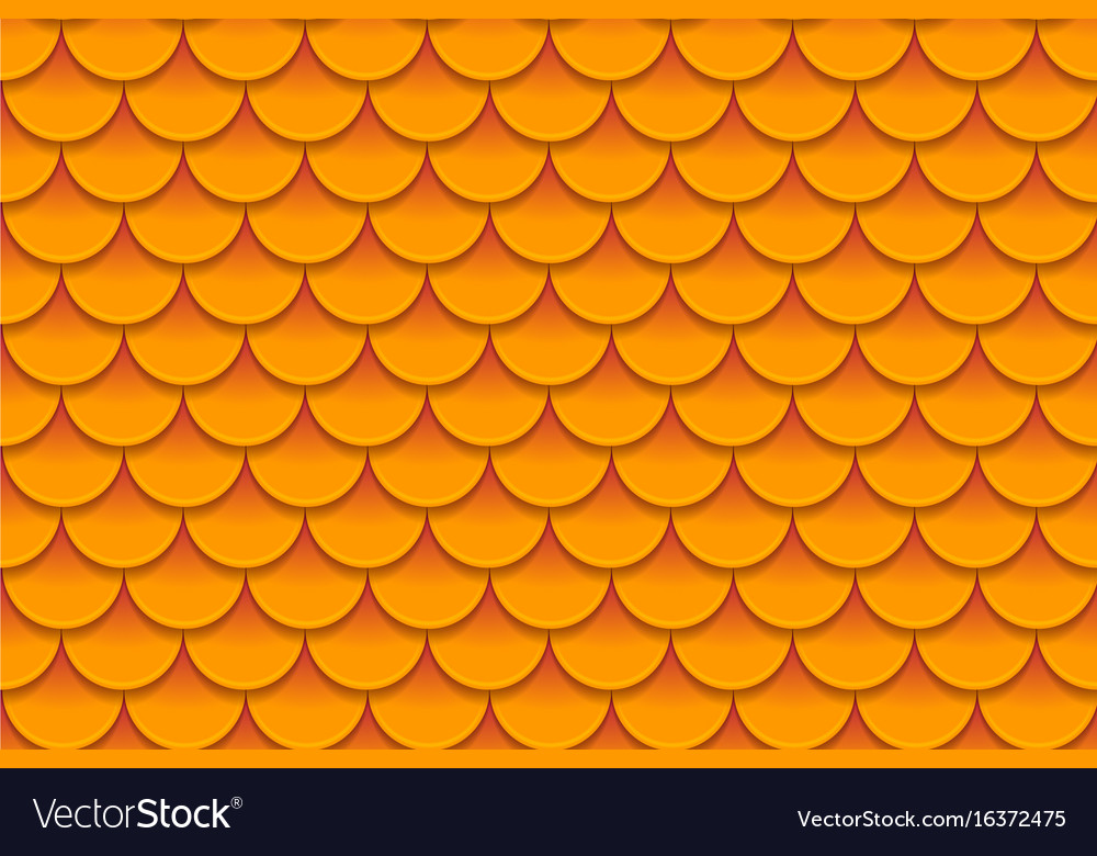 Seamless pattern of colorful orange fish scales vector image